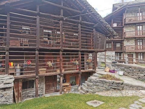 Appartamento in baita Walser a Alagna Valsesia