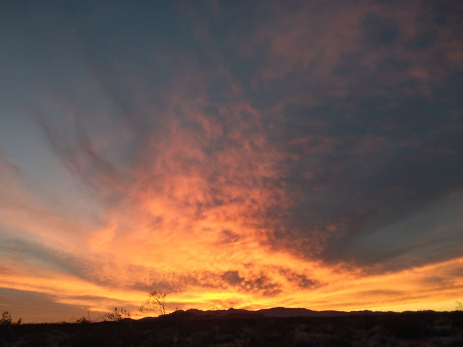 Wonder Valley sunset