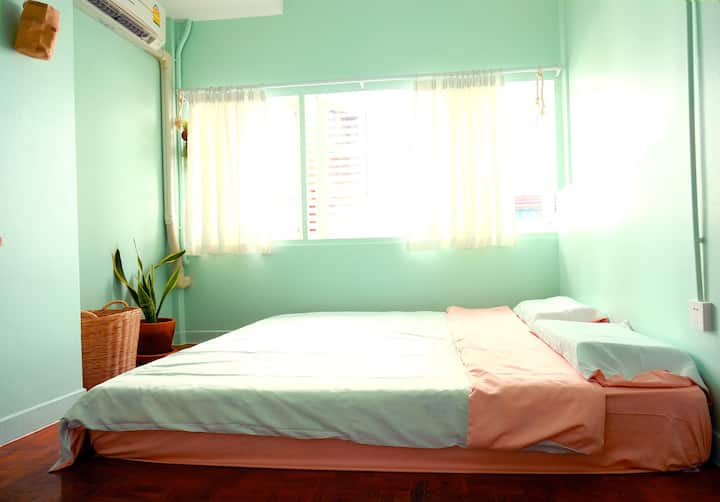 A double room in old city 6000b/month