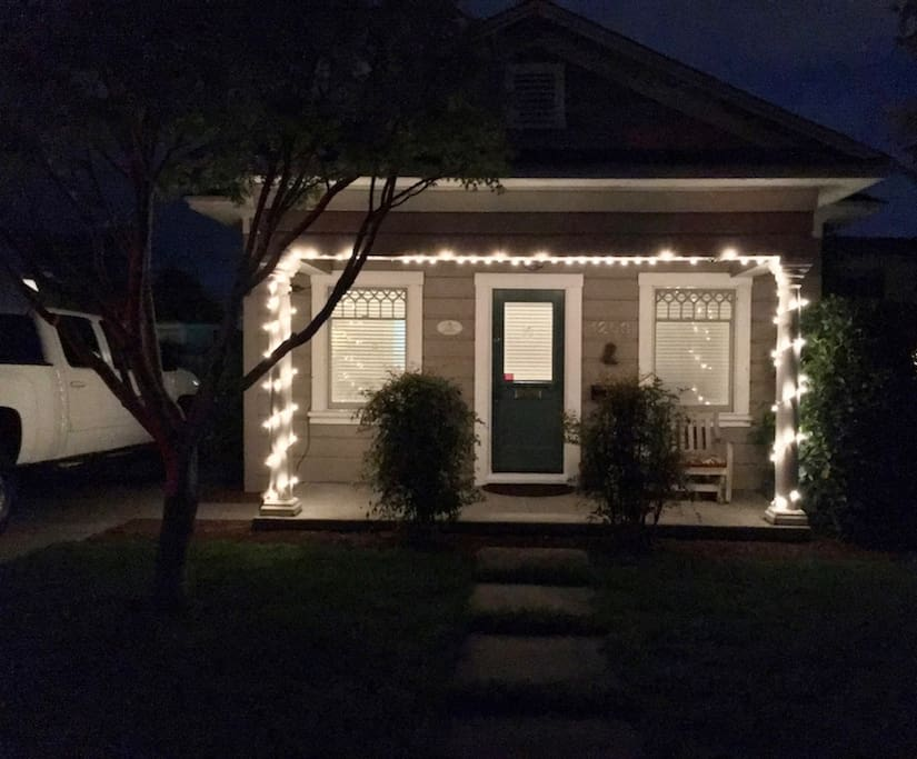 NIGHT TIME FRONT PORCH