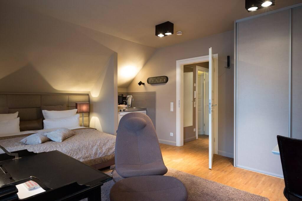 Schlaf-Wohnbereich mit Kitchenette