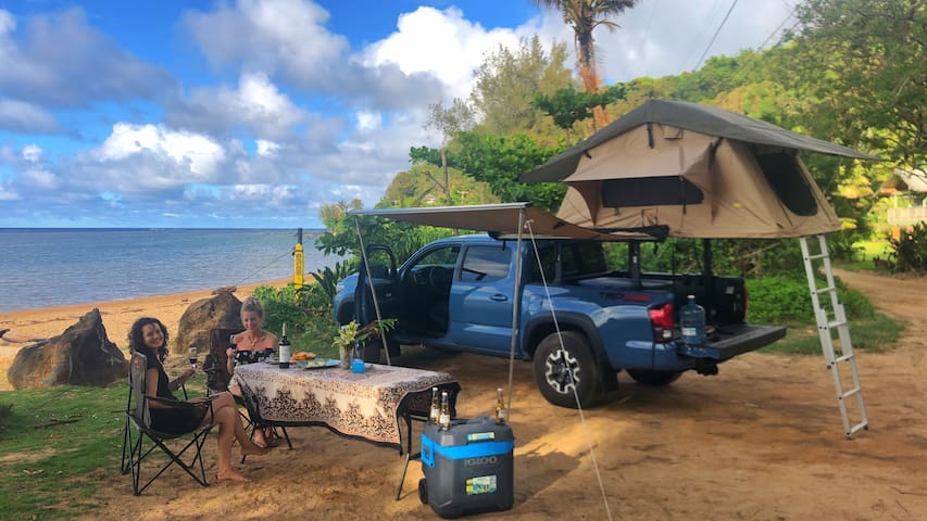 Our Magic 2019 Toyota Tacoma TRD Roof top camper