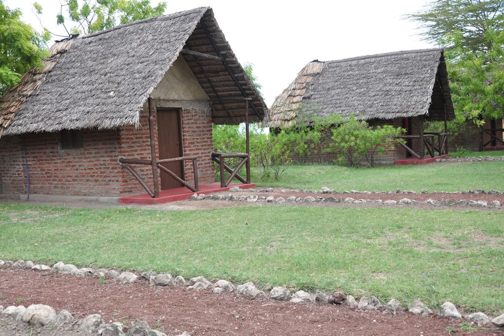Outside view of huts