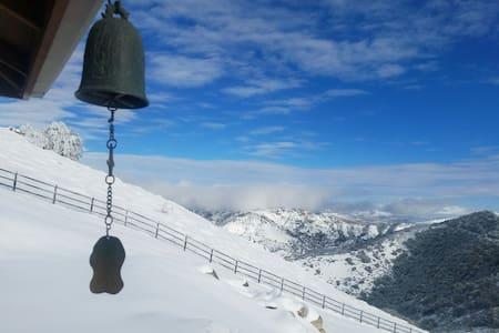 Broken Shadow Hermitage - currently snowing - Tehachapi
