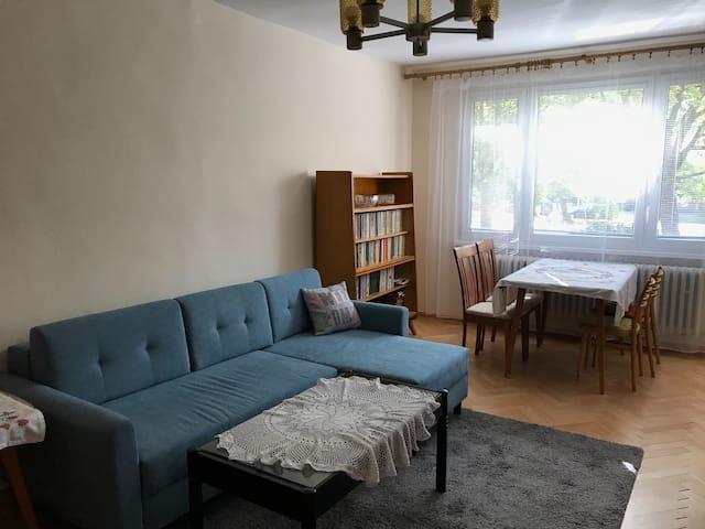 Obývačka s rozkladacím gaučom