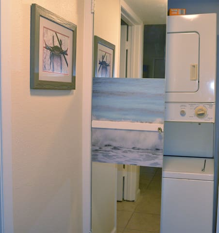 washer and dryer in the condo