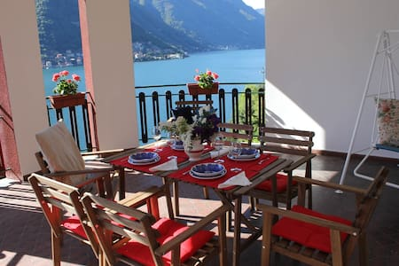 Villa Pinola, 5 px, great view,parking and garden! - Pognana Lario - Vila