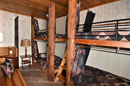 Bunks with bedding and towels included.