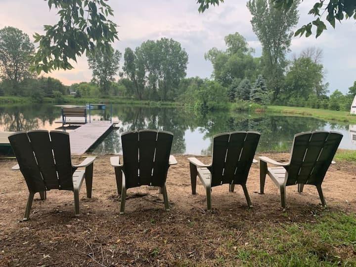 """Adventure Pond"" | Camp/Swim/Fish/Bonfires! Private location!"