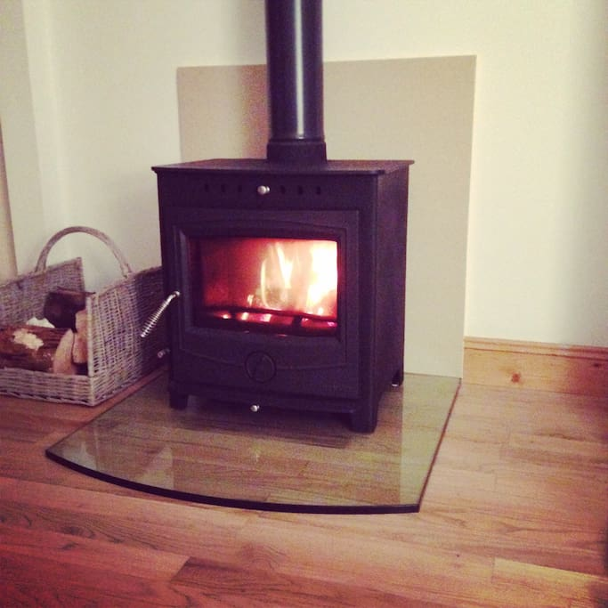Cosy stove fire, fantastic area for relaxing.