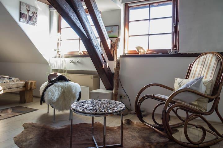 Traumzimmer-Balkenbett- Wellnessbad - Tettnang - Appartamento