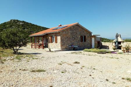 Two bedroom house with terrace and sea view Cove Triluke, Pašman (K-13577)