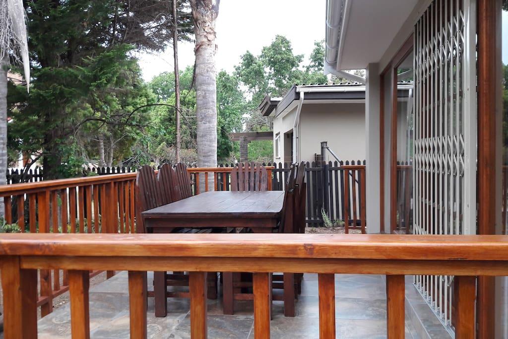 Veranda with 8 seater table