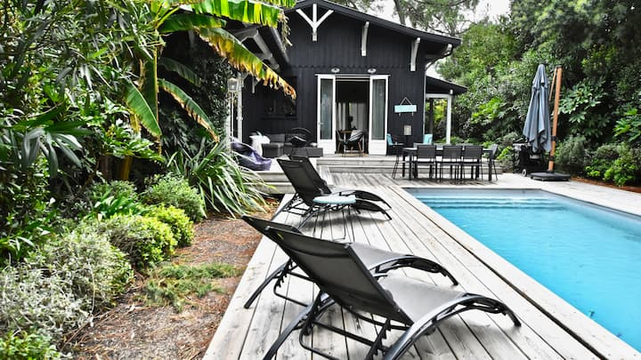 Villa avec piscine chauffée au cœur du Cap Ferret
