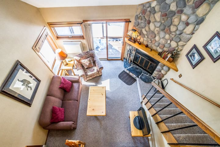 Caribou Highlands 144C is a Cozy Lutsen Vacation Condo Located at Caribou Highlands Lodge Just Steps From Lutsen Mountains