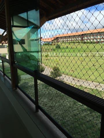 Vista do hotel à partir da varanda do flat