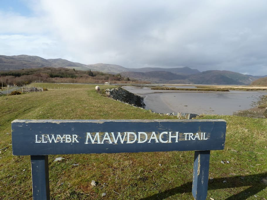 Mawddach trail is 5 minutes from the cottage