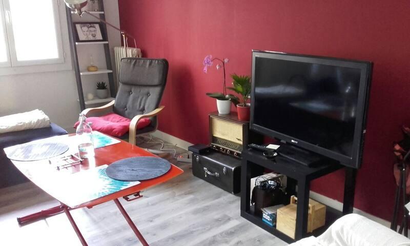 Chambre vue sur parc dans T3 calme - Rennes - Apartment