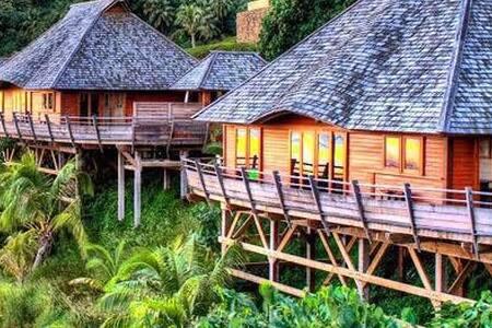 Villa 4 - Anuhe - 3 room - view mountain - Moorea