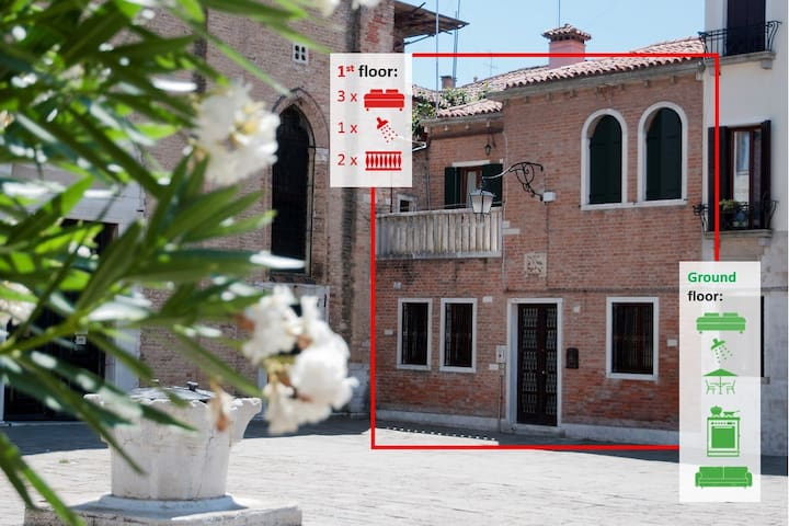 Stunning house, 3 outside spaces,4 bedrooms - Venecia - Casa