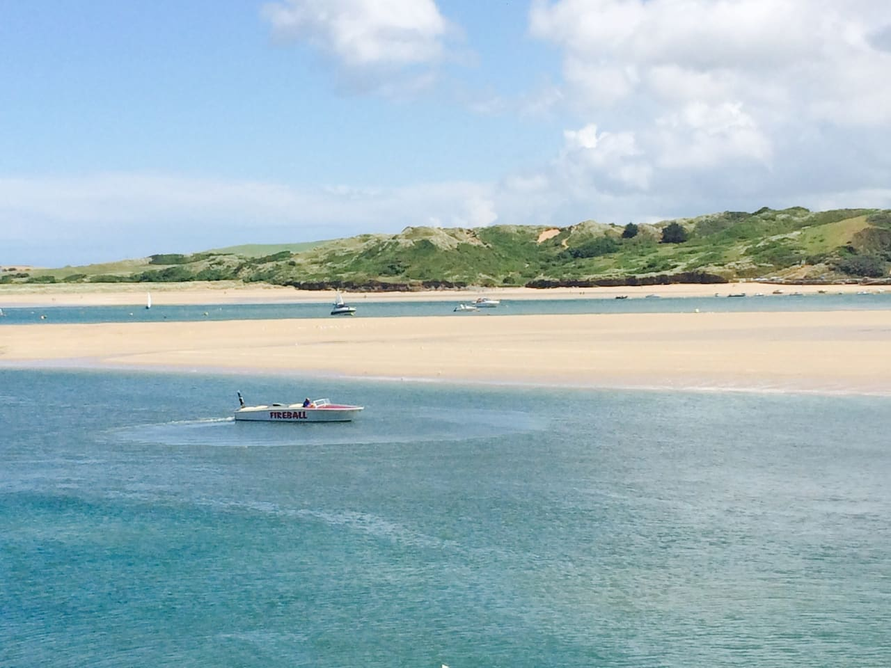 Looking out to Rock from Padstow