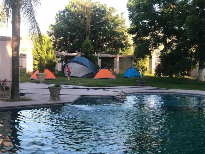 Acampar con seguridad a solo 15 minutos de Torreon