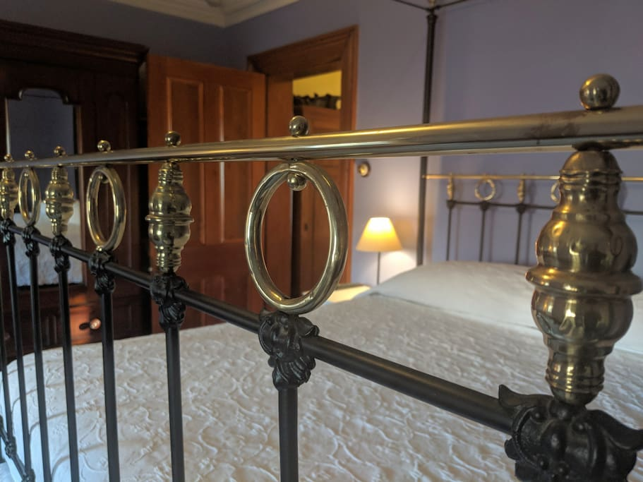 The Lavender Room's continental king bed
