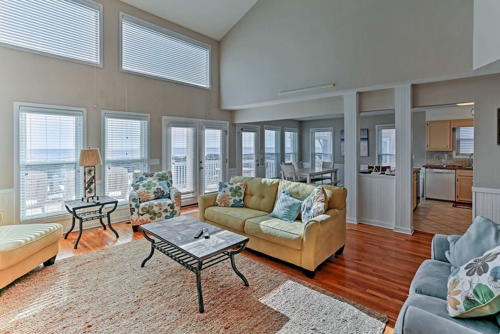 When you need a break from the elements, luxuriate in the spacious living room.