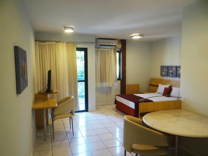 Apartamento acessível PCD com vista para a praia