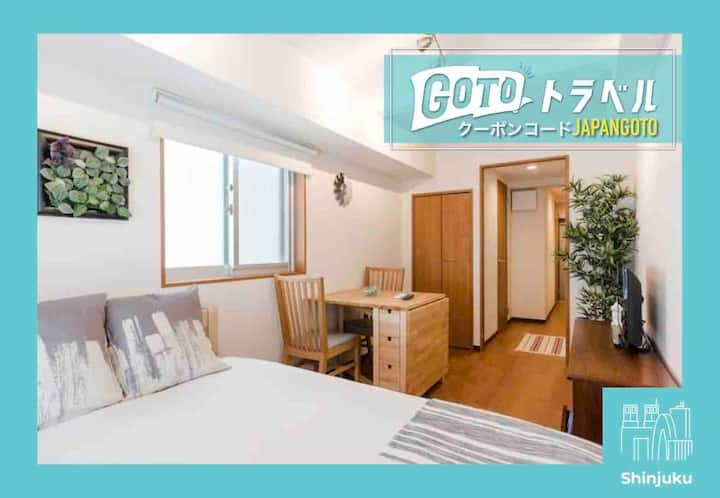 Convenient & Comfy Biz Friendly Shinjuku Home