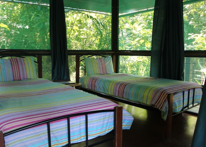 Rainforest Hut - Twin Beds with alfresco en-suite