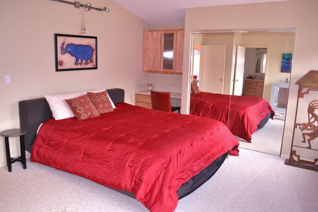Spacious master suite king bed