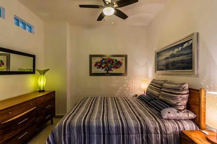 Bedroom 2 with barn door entry.