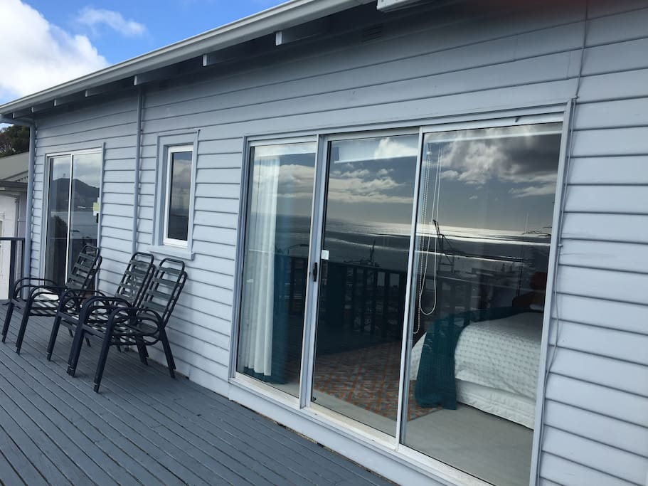 As an extension of your living space, enjoy the large  outdoor decking area.