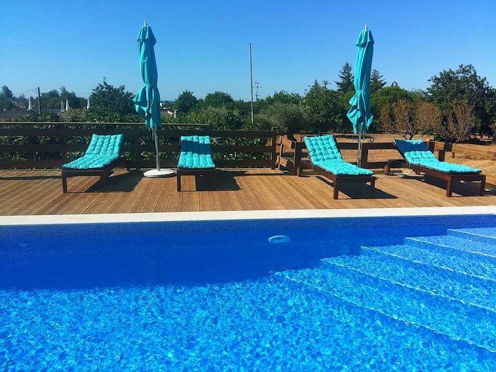 Idyllic farmhouse with swimming pool