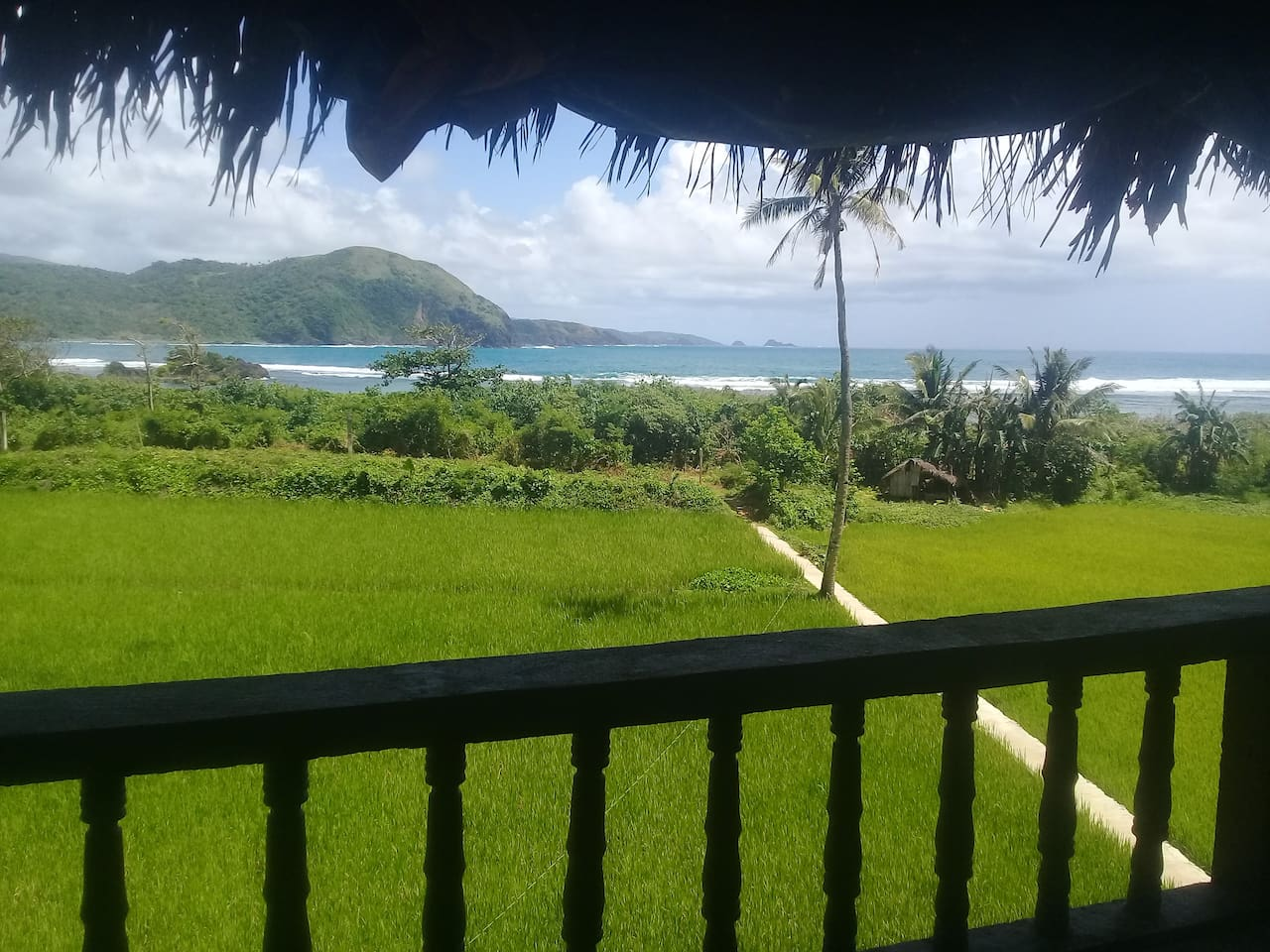 View from the restaurant overlooking Majestics surf break