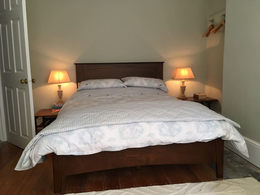 Comfy double bed with linen provided