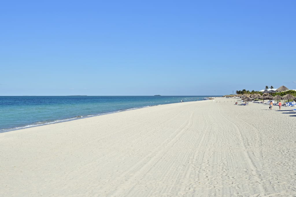 Nicer beach area near the hotels.