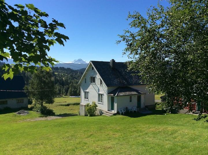 Idyllic traditional farmhouse in fjord district