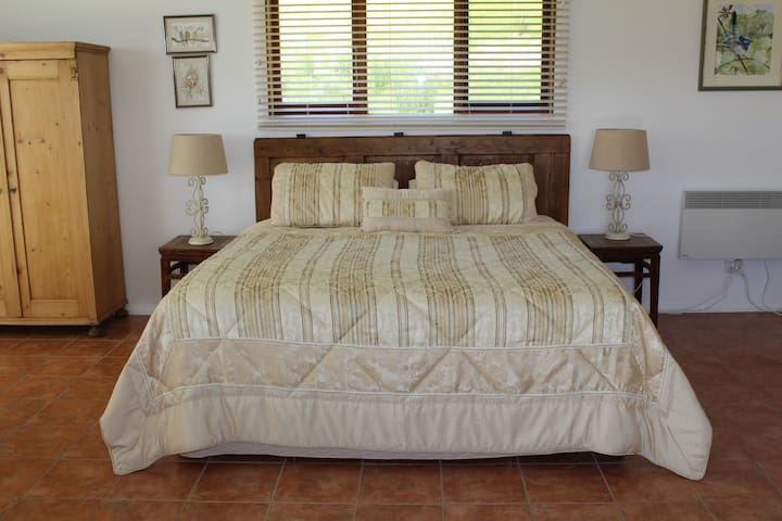 Luxurious King Sized Bed, you'll sleep well here!