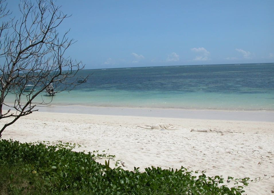 Fine sandy beach at the warm Indian ocean