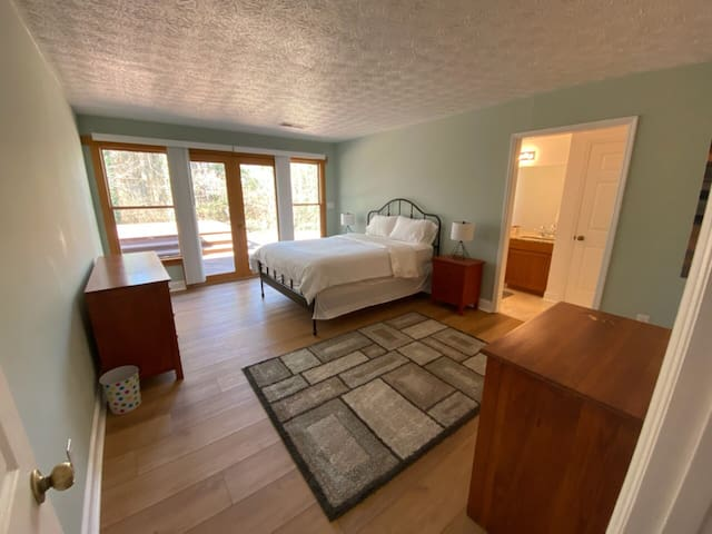 Master bedroom with 2 walk-in closets