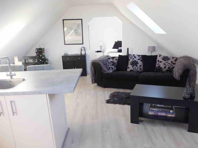New modern apartment in quiet rural village