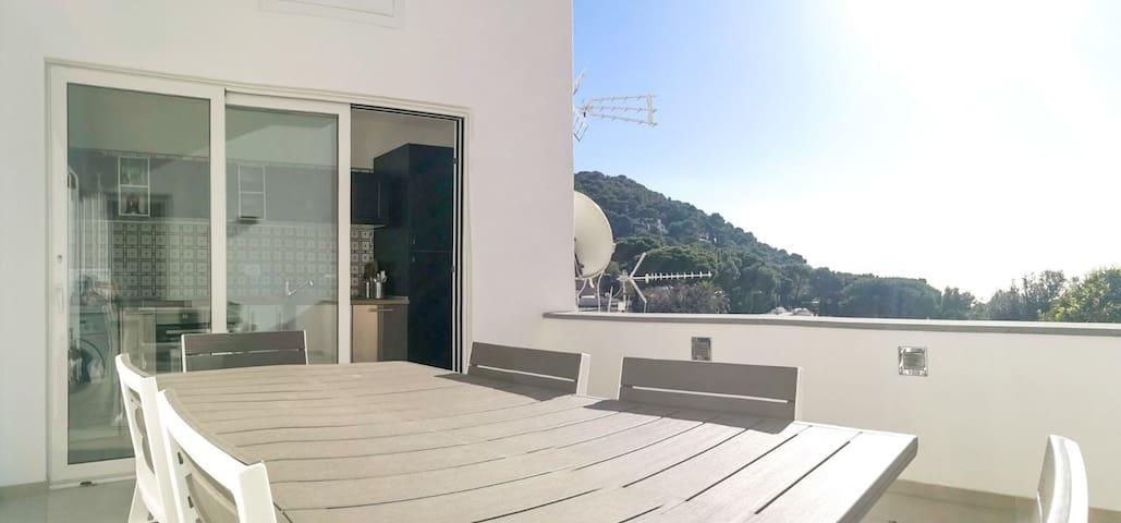 splendida terrazza panoramica vista mare