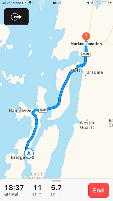 Directions from East Voe, Scalloway