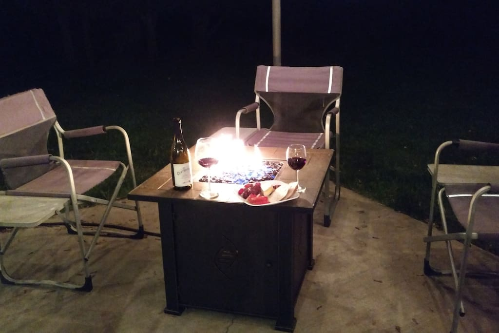 Fire Table on the patio