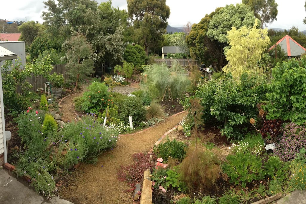 Beautiful big garden to smell the flowers in.