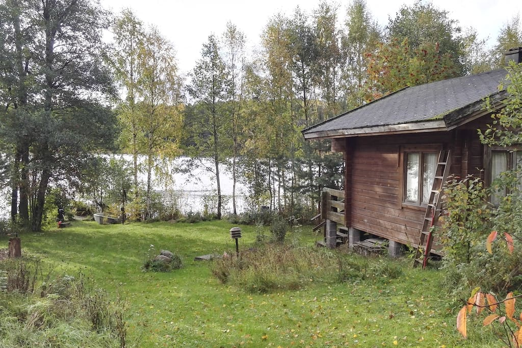 To Sauna cabin and bath, swim or maybe fishing...