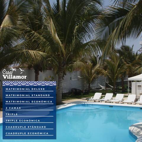 Habitaciones matrimoniales stándard Casa Villamor