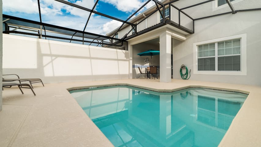 Spacious home with private pool in gated resort